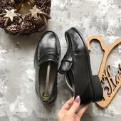 Кожаные туфли лоферы M&S рр 44