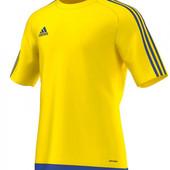 Мужская спортивная футболка желтая сеточка Adidas climalite M