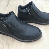 Скидка! 40 размер, Мужские кожаные ботинки, отличное качество