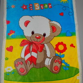 Детское одеяло плед велюр овчина 95х135 см