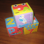 mothercare кубики мягкие