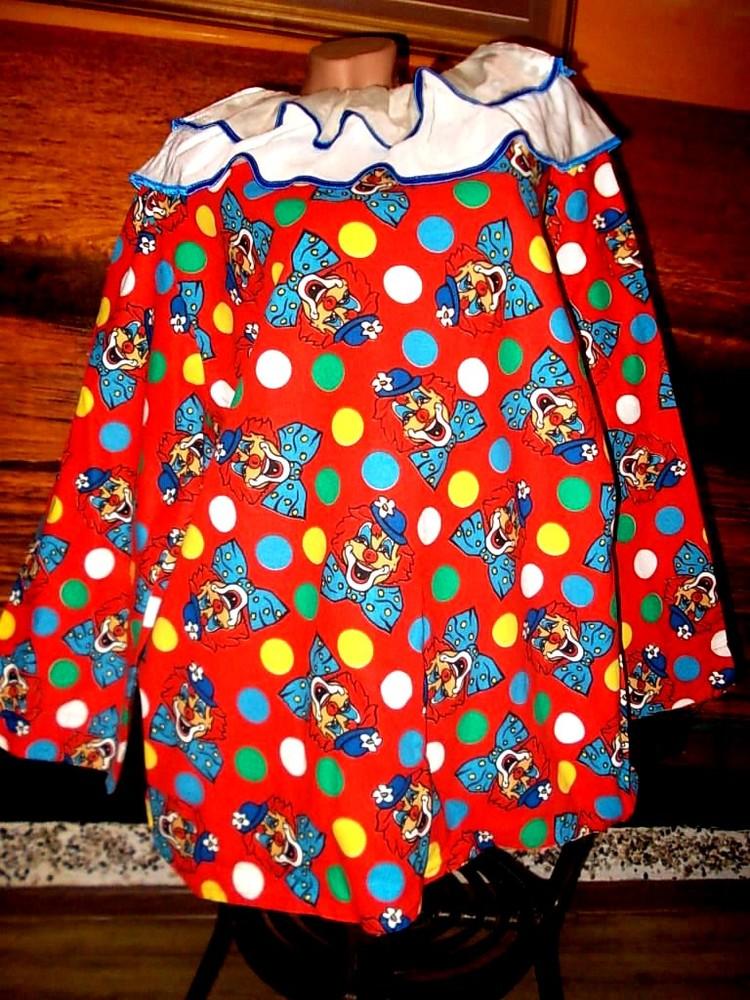Маскарадная рубашка для клоуна размер м - хлопок фото №1