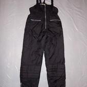 р. 146-152-158, лыжные штаны Track Field полукомбинезон термоштаны зимние