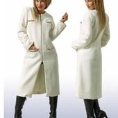 Женское пальто на молнии с декором цепью