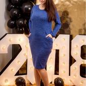 Трикотажное платье средней длины 3ХЛ