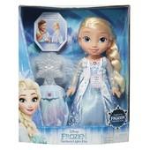 Disney Frozen northern lights Elsa Кукла Эльза поющая и светящаяся со снежинкой Холодное сердце
