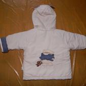 р. 80-86-92, зимняя куртка с ушками, DLK Kids Collection, куртка демисезон или теплая зима от +5 до