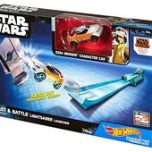 Hot Wheels Star Wars Lightsaber blast & battle darth vader vehicle Launcher хот вилкс звезные войны