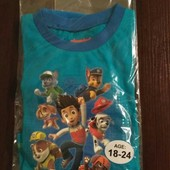Пижамка от Nickelodeon с любимыми героями из Англии на 18-24 мес, 3-4 года
