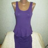 Очень красивое женское платье   New Look (Нью Лук)  с баской !!!!!!!!