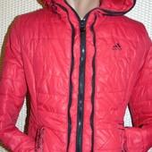 Спортивная стильная фирменная зимняя курточка adidas xs-s