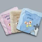 Одеяло детское Слоник махра 3 цвета