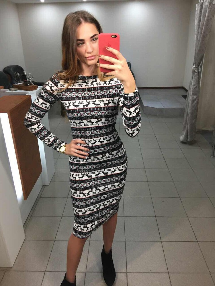 Теплое платье ангора с узором цвета!! фото №1 e86156b1f3fd9