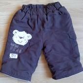 Теплые фирменные штаны для новорожденного. Флис+ синтепон. Зимние!!