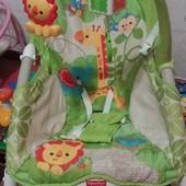 Fisher price детское кресло качалка-шезлонг
