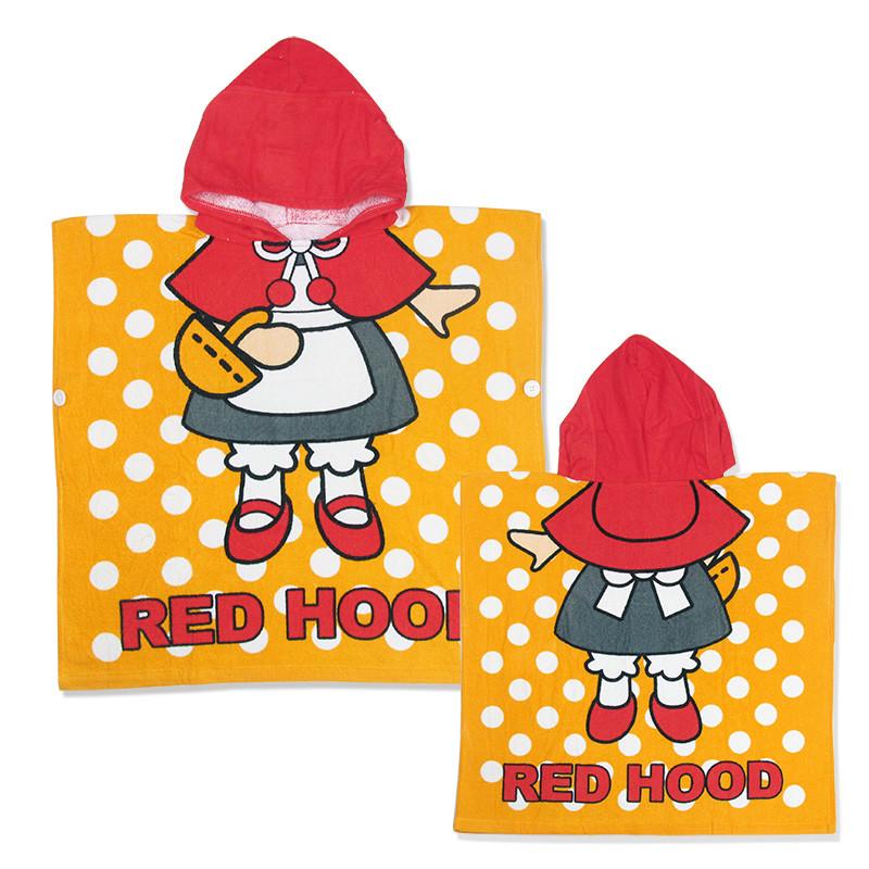 Полотенце пончо детское, для девочки. красная шапочка. хлопок 100% фото №1