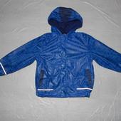 5-7 лет, р. 110-116-122, Куртка непромокайка дождевик на флисе Okay, Германия
