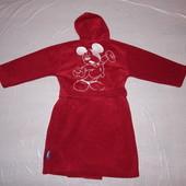 6-7 лет, р. 116-122 см, эксклюзив! тепленький флисовый халат Disney с Микки Маусом
