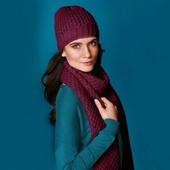 Мягенький бордовый шарф для Вас от Tcm Tchibo, Германия, размер 200*30 см