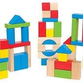 Новый деревянный конструктор Hape из 50 блоков. Оригинал из Америки