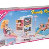 Мебель для барби гостинная Gloria 2014  коробке 39*21см