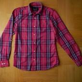 164-170 см Topman новая качественная розовая рубашка хлопок. Длина - 70 см, ширина под руками - 48 с