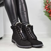 Ботинки Balmain реплика на шнурках и молнии
