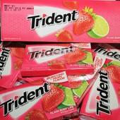 Жевательная резинка Trident клубника+лайм, жвачка, жвачки