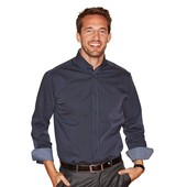 Шикарная  рубашка от тсм Tchibo Германия, ворот 39-40 , р.М