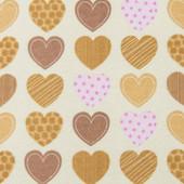 Детский комплект Сердечки Фланель (простынь + наволочка)