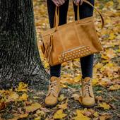 Ботинки натуральная замша/кожа 21415