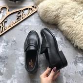 Новые кожаные туфли лоферы Clifford James рр 39-40