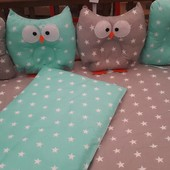 Детское постельное белье Совы с подушками+ подарок!