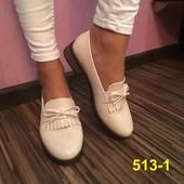 Туфли лоферы на удобном каблуке матовые черные, лаковые бежевые