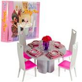 Мебель для барби столовая Gloria 94011 в коробке 21*19см