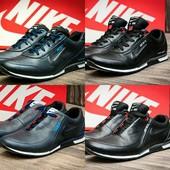 Туфли Nike ACG, натур. кожа, р. 40-44, син, черн,, код kv-2861