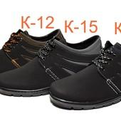 Туфли мужские на шнуровку в разных цветах (К1)