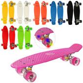 Пенни борд, Penny board, скейт . Колеса светятся.
