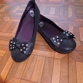 туфли балетки в блестят с камнями р.32 стелька 20.5 см.сост.новых