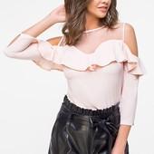 Женская блузка с воланами