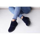 Синие замшевые ботиночки, деми