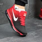 Кроссовки мужские Nike Flyknit Air Max black/red