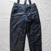 Euro 52-62 лыжные штаны сноуборд, теплые зимние термоштаны полукомбинезон зимний