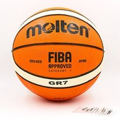 Мяч баскетбольный резиновый Molten Bgr7-OI №7: резина, бутил