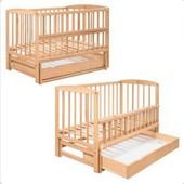 Кровать детская на шарнирах с ящиком с откидной боковиной (1200*600)1790009