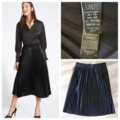 Черная юбка плиссе от m&s (uk14- наш 48/50)