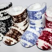 Меховые домашние сапожки, очень стильные, модные и комфортные!