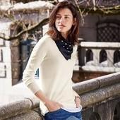 Стильный пуловер + блуза,эффект 2 в 1 tcm Tchibo, размер 38/40 евро