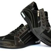 Мужские спортивные туфли на шнуровку и молнию (СГТ-1ч)