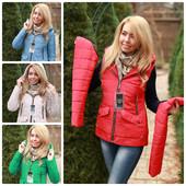Женская деми куртка-жилет 42-50рр